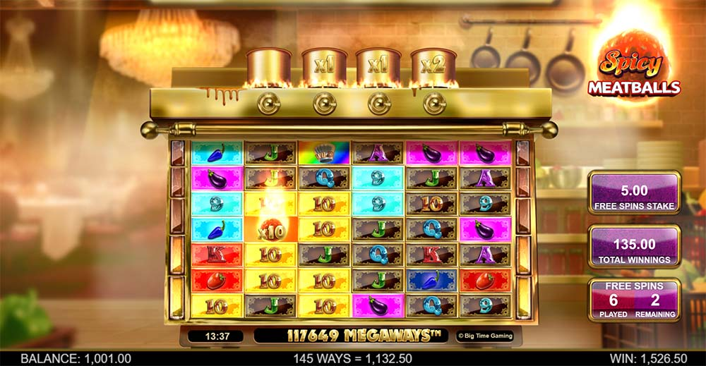 Spicy Meatballs Megaways Slot - Free Spin with Max Megaways