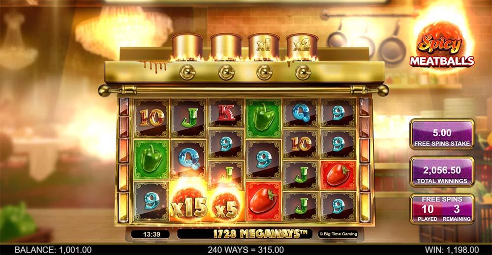 Spicy Meatballs Megaways Slot - Wild Multipliers