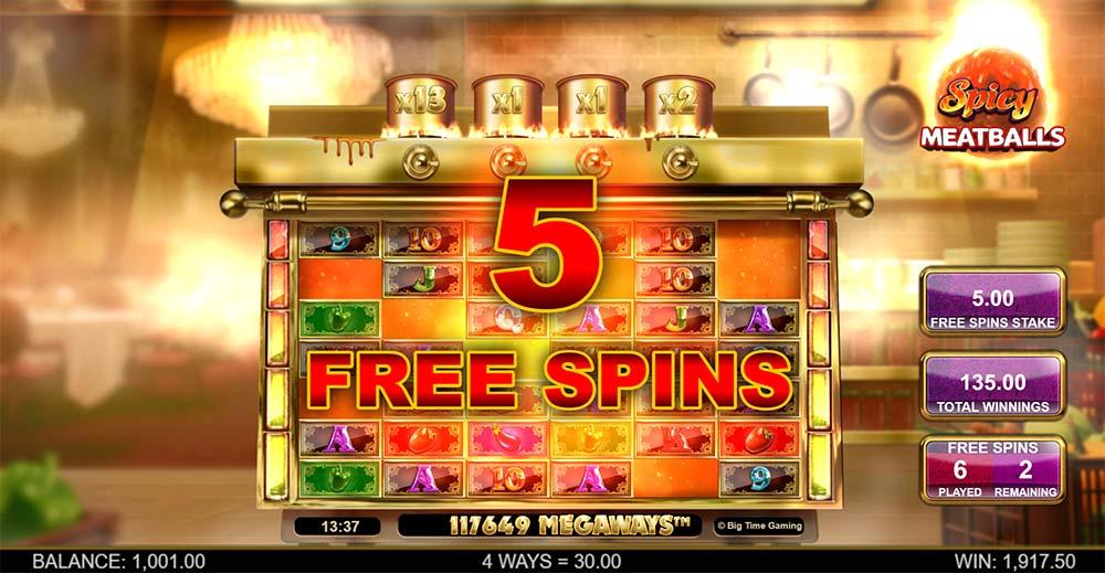 Spicy Meatballs Megaways Slot - Re-Trigger Bonus