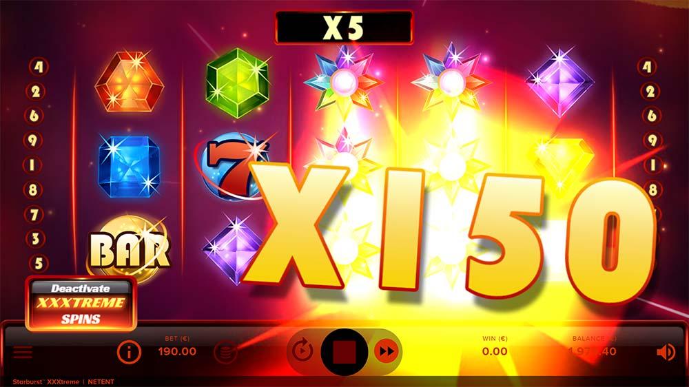 Starburst XXXtreme Slot - 150x Multiplier