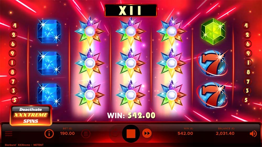 Starburst XXXtreme Slot - 3 Starburst Wilds