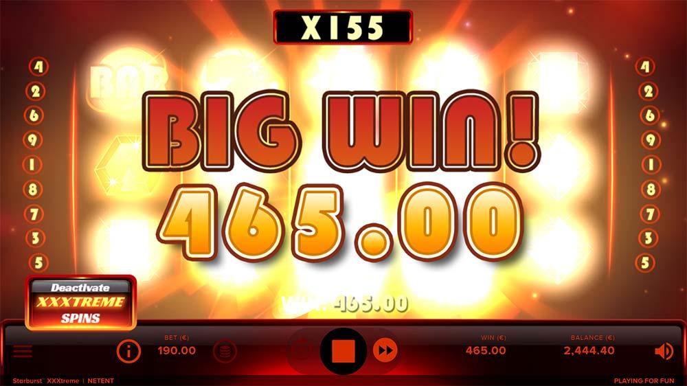 Starburst XXXtreme Slot - Big WIn