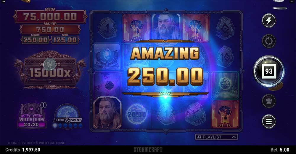 Thunderstruck Wild Lightning Slot - Amazing Win