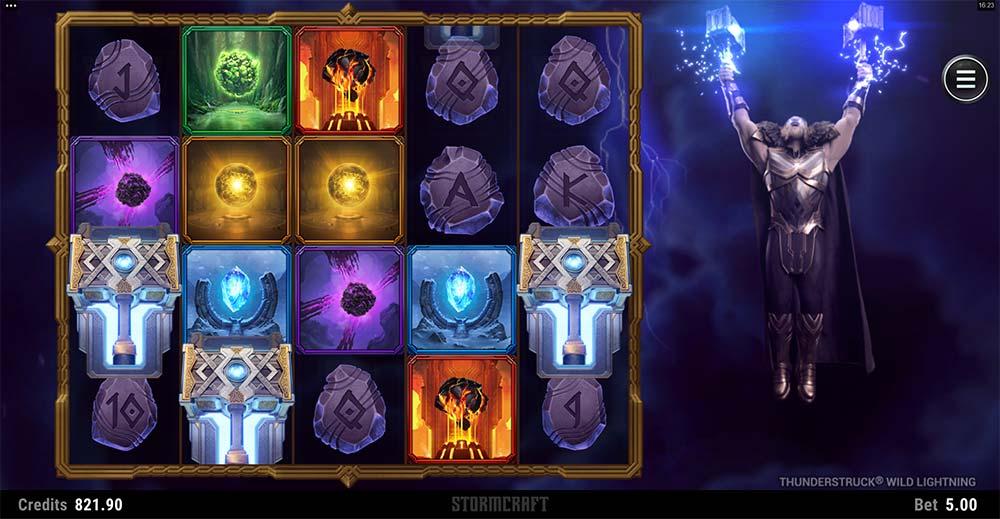 Thunderstruck Wild Lightning Slot - Bonus Triggered