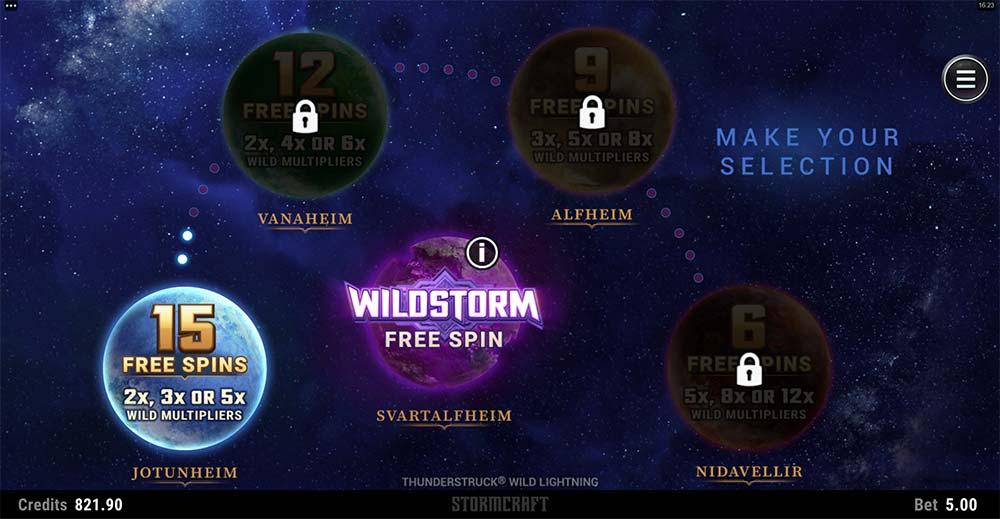 Thunderstruck Wild Lightning Slot - Free Spins Selection