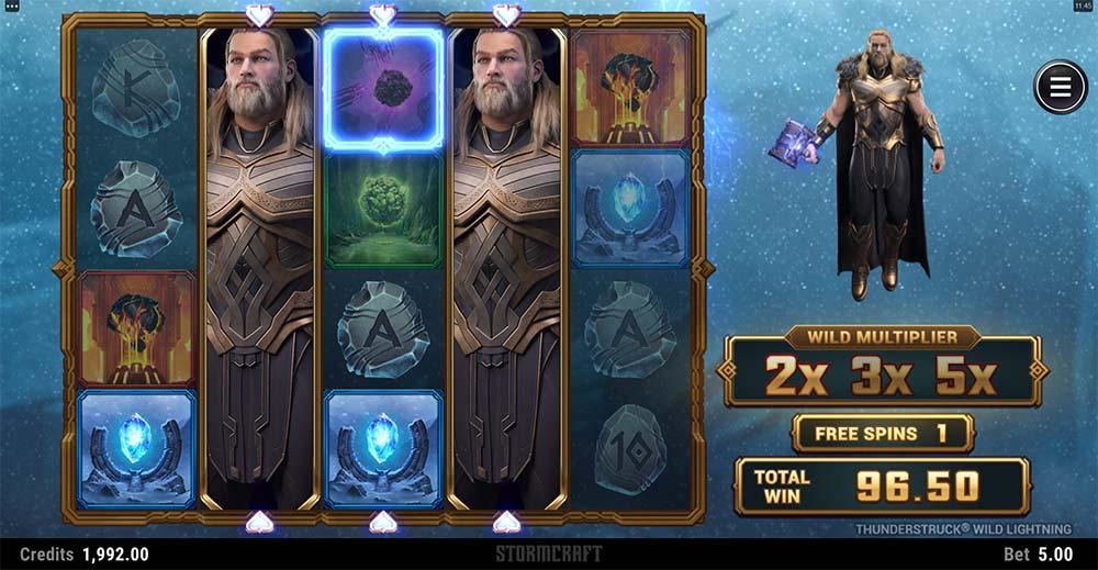 Thunderstruck Wild Lightning Slot - Free Spins Round