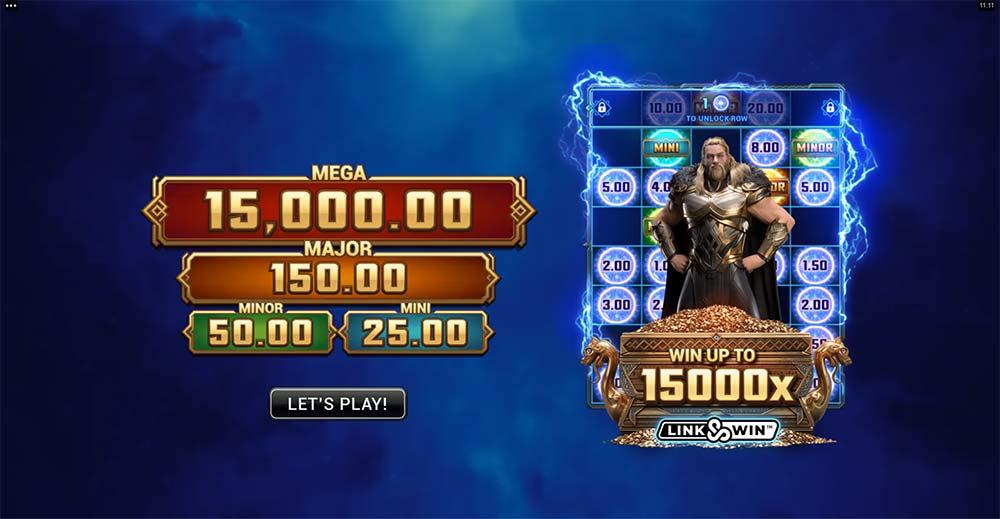 Thunderstruck Wild Lightning Slot - Intro Screen