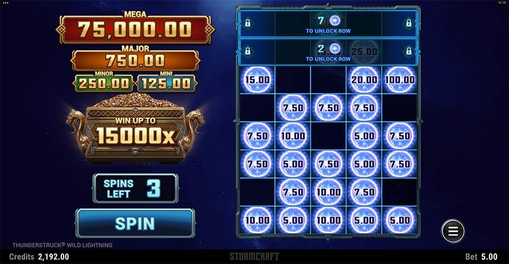 Thunderstruck Wild Lightning Slot - Link and Win Feature