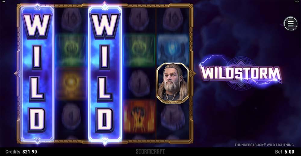Thunderstruck Wild Lightning Slot - Wildstorm Feature