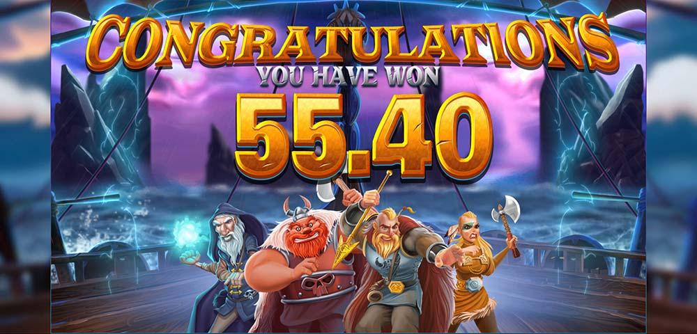 Vikings Unleashed Megaways Slot - Bonus End