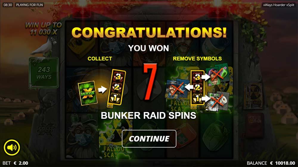 xWays Hoarder xSplit Slot - Free Spins Start