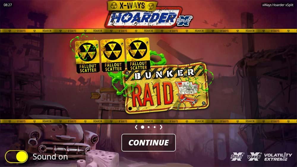 xWays Hoarder xSplit Slot - Intro Screen