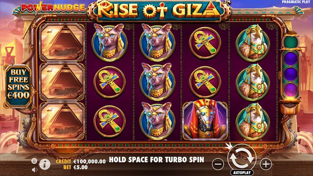 Rise of Giza PowerNudge Slot - Base Game