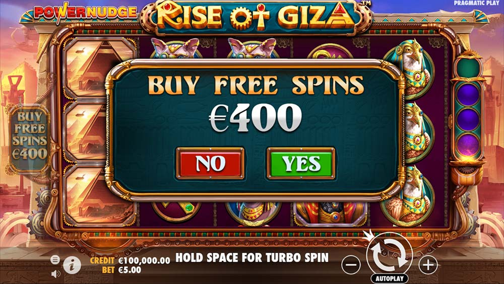 Rise of Giza PowerNudge Slot - Bonus Buy Option
