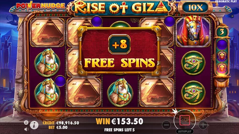 Rise of Giza PowerNudge Slot - Bonus Re-Trigger