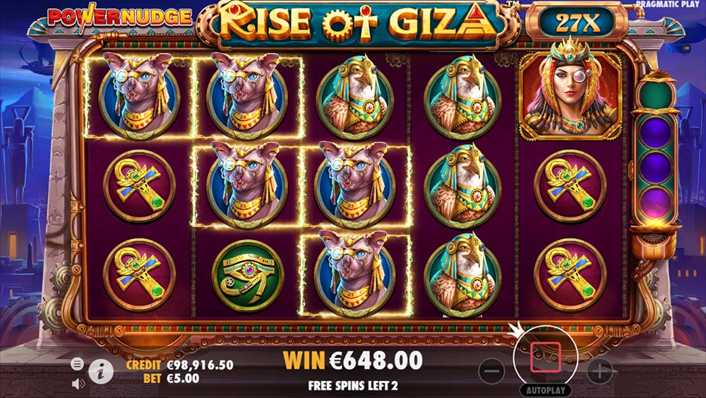 Rise of Giza PowerNudge Slot - 27X Multiplier