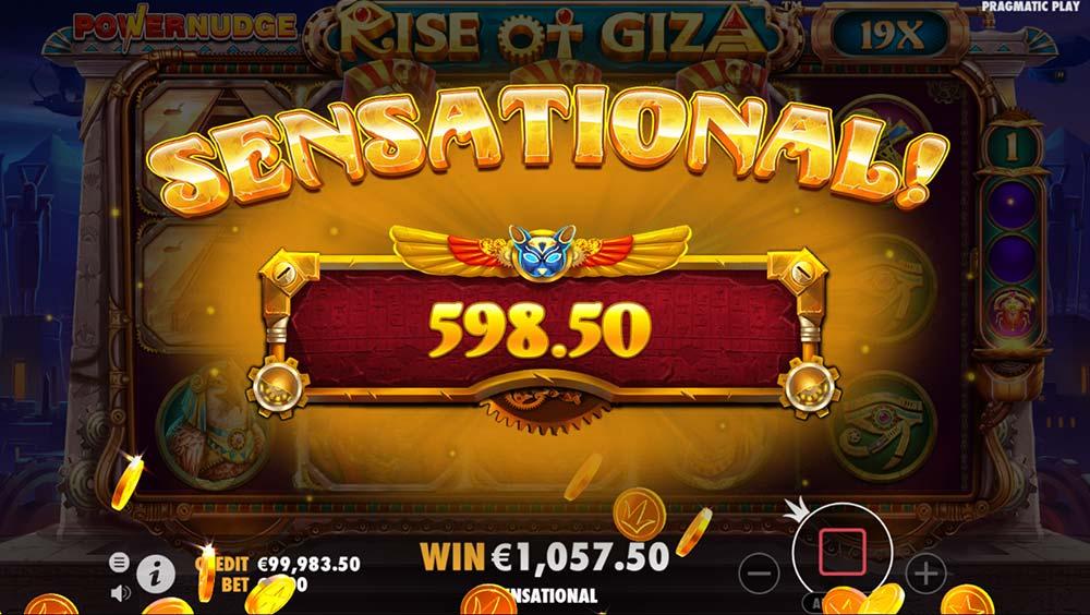 Rise of Giza PowerNudge Slot - Sensational Win
