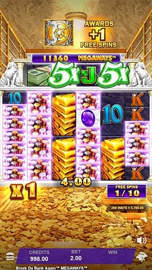 Break Da Bank Again Megaways Mobile Slot - Big Win