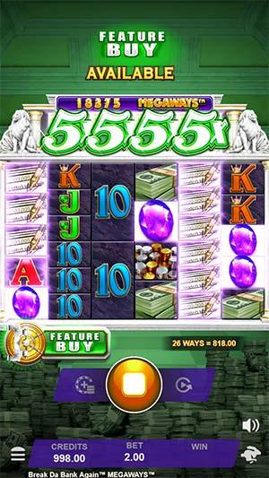 Break Da Bank Again Megaways Mobile Slot - Huge Base Game Win