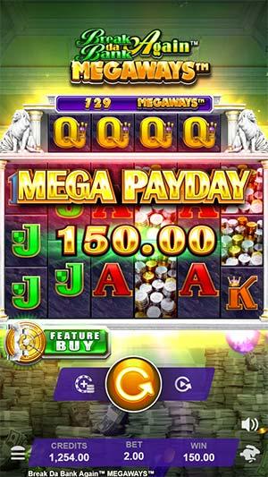 Break Da Bank Again Megaways Mobile Slot - Mega Payday Win