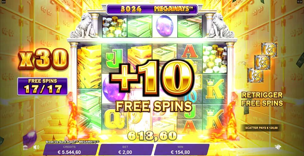 Break Da Bank Again Megaways Slot +10 Extra Spins