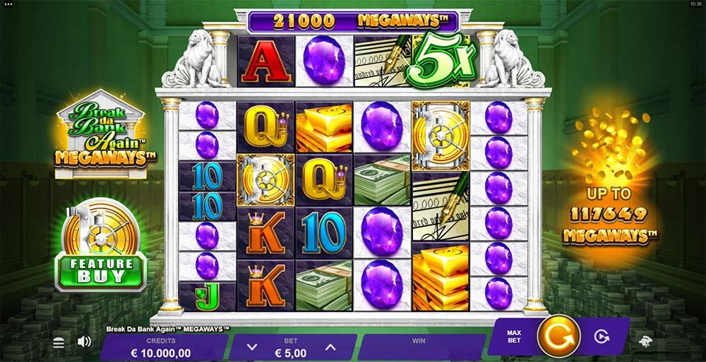 Break Da Bank Again Megaways Slot - Base Game