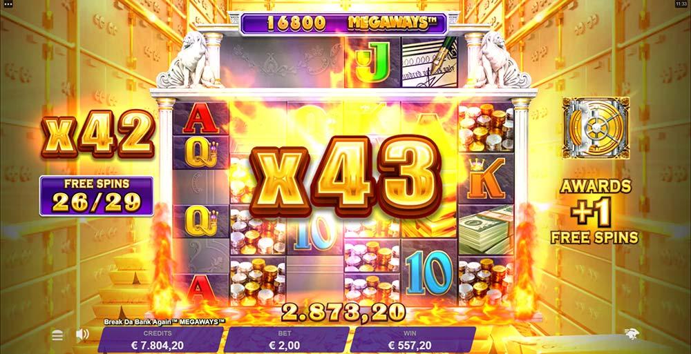 Break Da Bank Again Megaways Slot - Huge Mutliplier