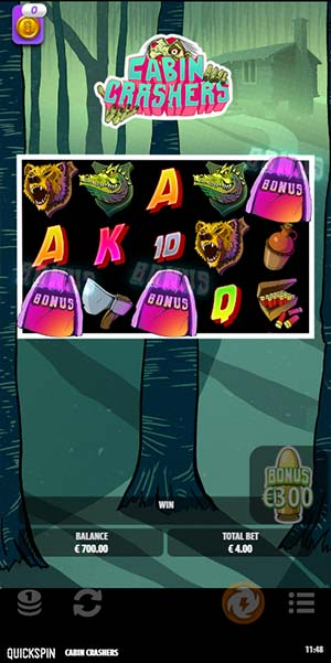 Cabin Crashers Mobile Slot - Bonus Trigger