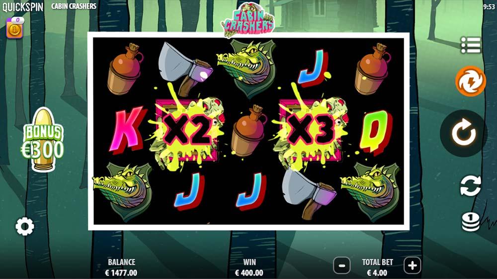 Cabin Crashers Slot - Base Game Hit