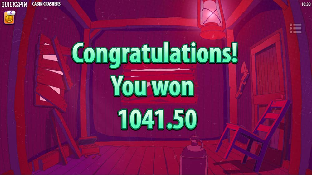 Cabin Crashers Slot - Bonus End