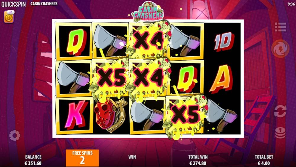Cabin Crashers Slot - 5x Multiplier Wilds