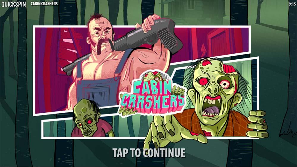 Cabin Crashers Slot - Intro Screen