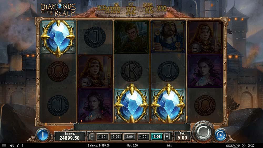 Diamonds of the Realm Slot - Bonus Trigger