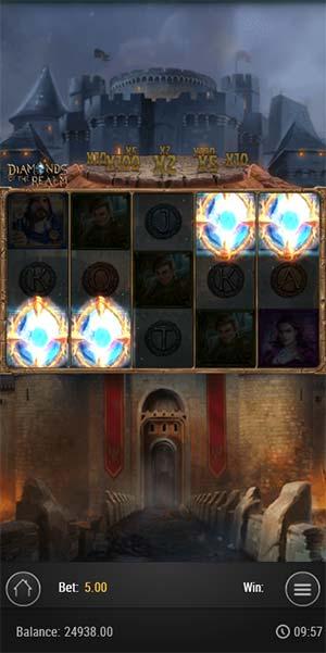 Diamonds of the Realm Mobile Slot - Bonus Trigger