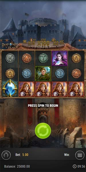 Diamonds of the Realm Mobile Slot - Base Game