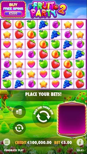Fruit Party 2 Mobile Slot - Base Game