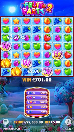 Fruit Party 2 Mobile Slot - Free Spins