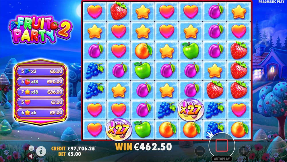 Fruit Party 2 Slot - Free Spins Multipliers