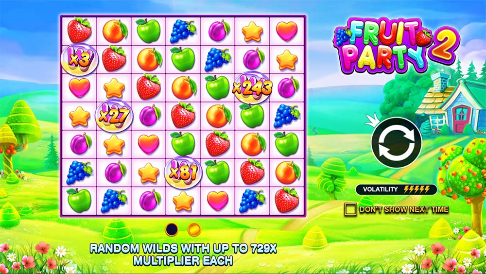 Fruit Party 2 Slot - Intro Screen