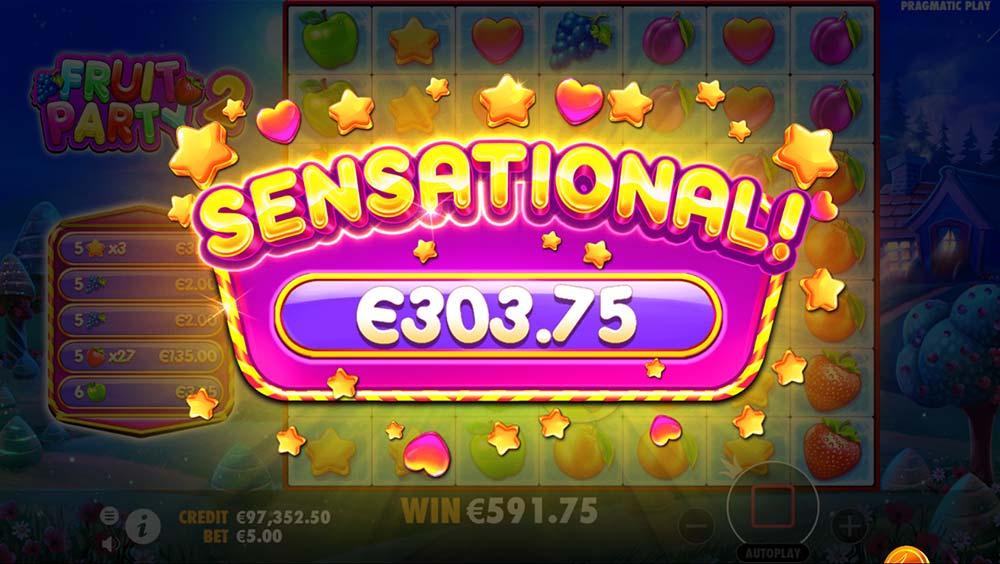 Fruit Party 2 Slot - Sensational Win