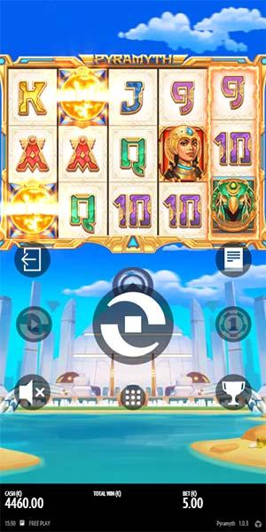 Pyramyth Mobile Slot - Scatter Tease