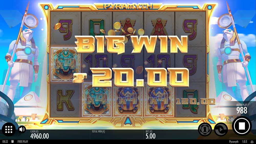 Pyramyth Slot - Base Game Big Win