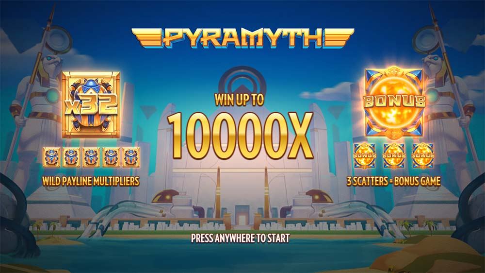 Pyramyth Slot - Intro Screen