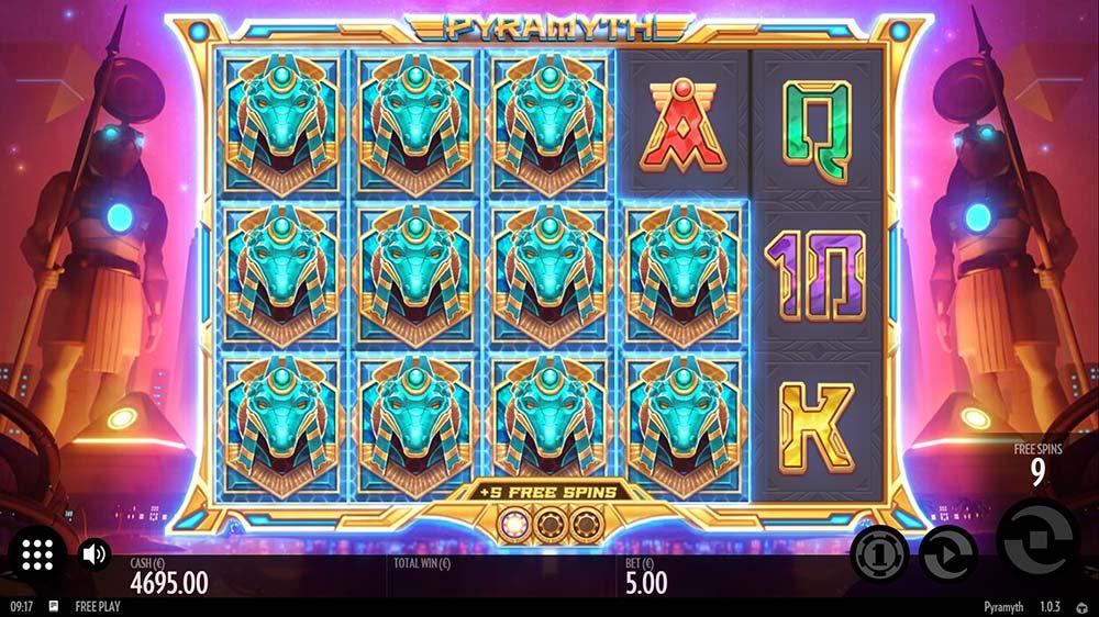 Pyramyth Slot - Stacked High Paying Symbols