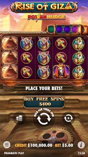 Rise of Giza PowerNudge Mobile Slot - Base Game