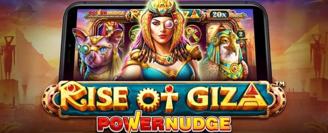 Rise of Giza PowerNudge Slot Header