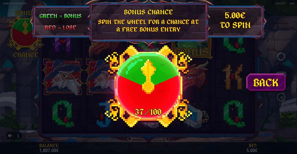 Secrets of the Sorcerer Slot - Bonus Chance Feature
