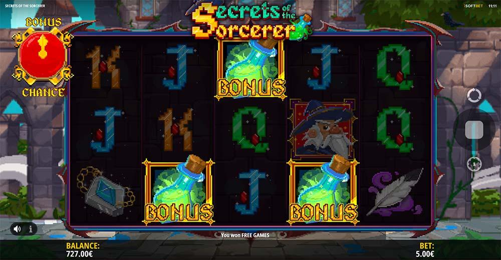 Secrets of the Sorcerer Slot - Bonus Trigger