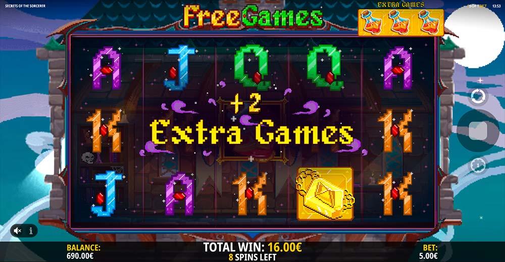Secrets of the Sorcerer Slot - Extra Spins