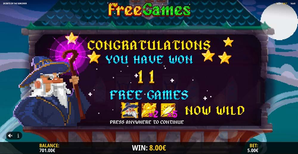 Secrets of the Sorcerer Slot - Multiplier Wilds Free Spins
